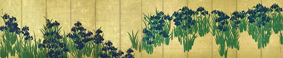 国宝 燕子花図屏風 尾形光琳筆 根津美術館蔵